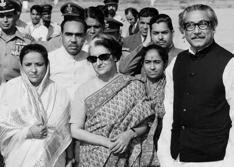 Prime Minister Indira Gandhi with Sheikh Mujibur Rahman