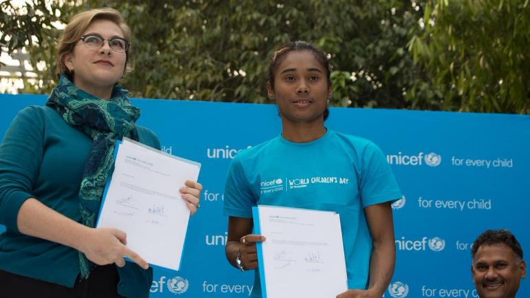 hima das appionted as the ambasidor for unicef