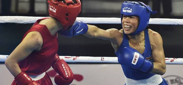 Mary Kom in World Boxing Championship final