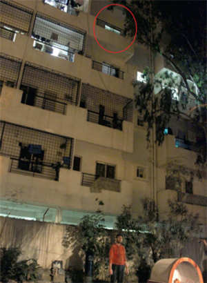 Minor house help `falls' from 4th floor; neighbours cry foul