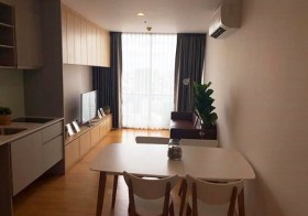 Noble Revo Silom – Bangkok condo for rent | 250 m. to Surasak BTS | bright open view, 2 double beds, bathtub