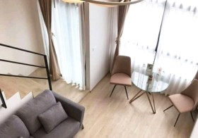 Ideo New Rama 9 – Bangkok condo for rent | 1 km. to Ramkhamhaeng airport link | duplex type, fitted kitchen + washer
