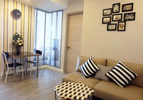 The Room Rama 4 – Bangkok condo for rent | 500 m. to Hua Lamphong MRT | corner unit + open view | fitted kitchen, washer/dryer