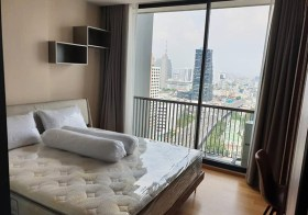 Noble Revo Silom condo | 3 mins walk to Surasak BTS | unobstructed view, kitchen with stove/hood, washer in unit