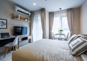 Life One Wireless – Bangkok condo for rent | 650 m. to Phloen Chit BTS | north facing + garden view, fitted kitchen, washer