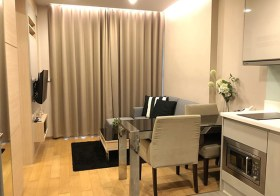 The Address Asoke condo | 3-5 mins walk to Phetchaburi MRT & airport link | bathtub + washer | gym, pool, sauna, garden