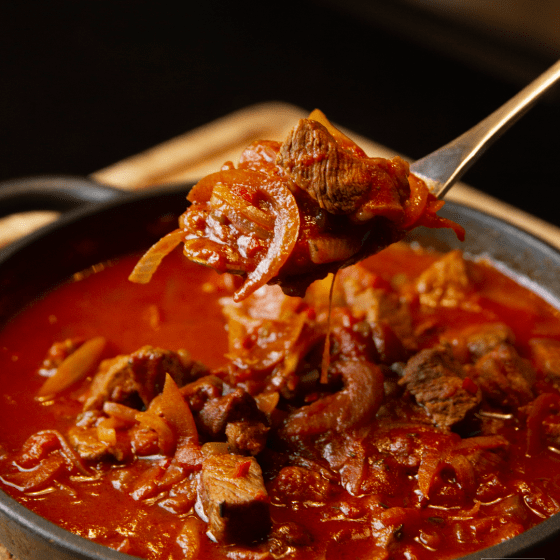 Goulash on a fork