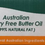 Peerless Australian Dairy Free Butter Oil 5kgs box