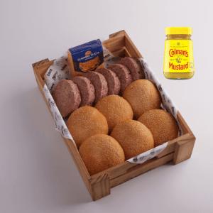 Burger Set with Mustard