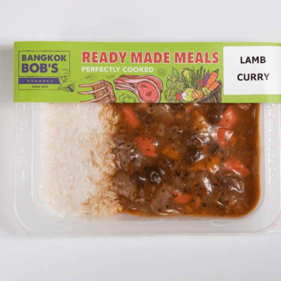 Lamb Curry Packaging Ready Meal