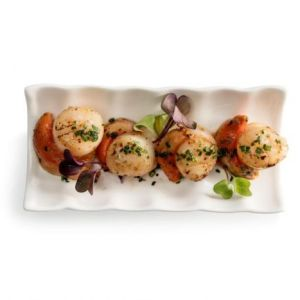 Scallops cooked with herbs and seasoned