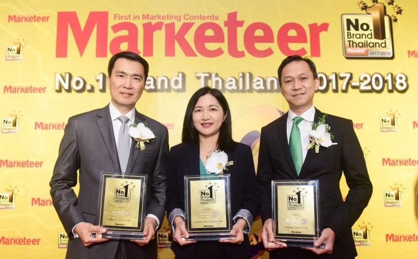 กสิกรไทยท็อปฟอร์ม กวาด 7 รางวัล แบรนด์ยอดนิยมอันดับ 1 ผลิตภัณฑ์การเงิน