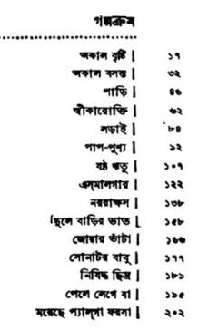 content of Sreshto Golpo