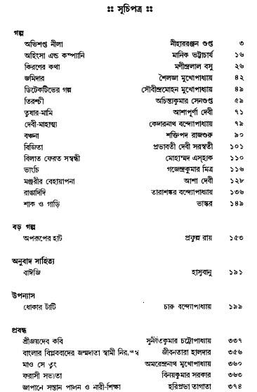 Bharatbarsha Sera Sangraha content 1