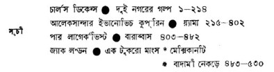 Bishwer Shreshtha Upanyas O Chhoto Galpo content