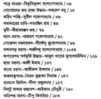Ponaroti Kishor Goyenda Galpo contents