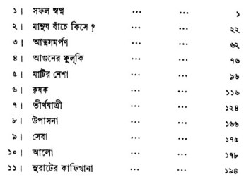 Talstoyer Galpo contents