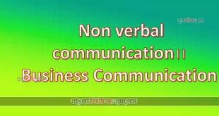 Non verbal communication।।Business Communication