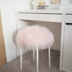 White Fluffy Desk Chair Ebay Loose Covers 5 Minute Stool Diy Tutorial Ikea Hack Bang On Style