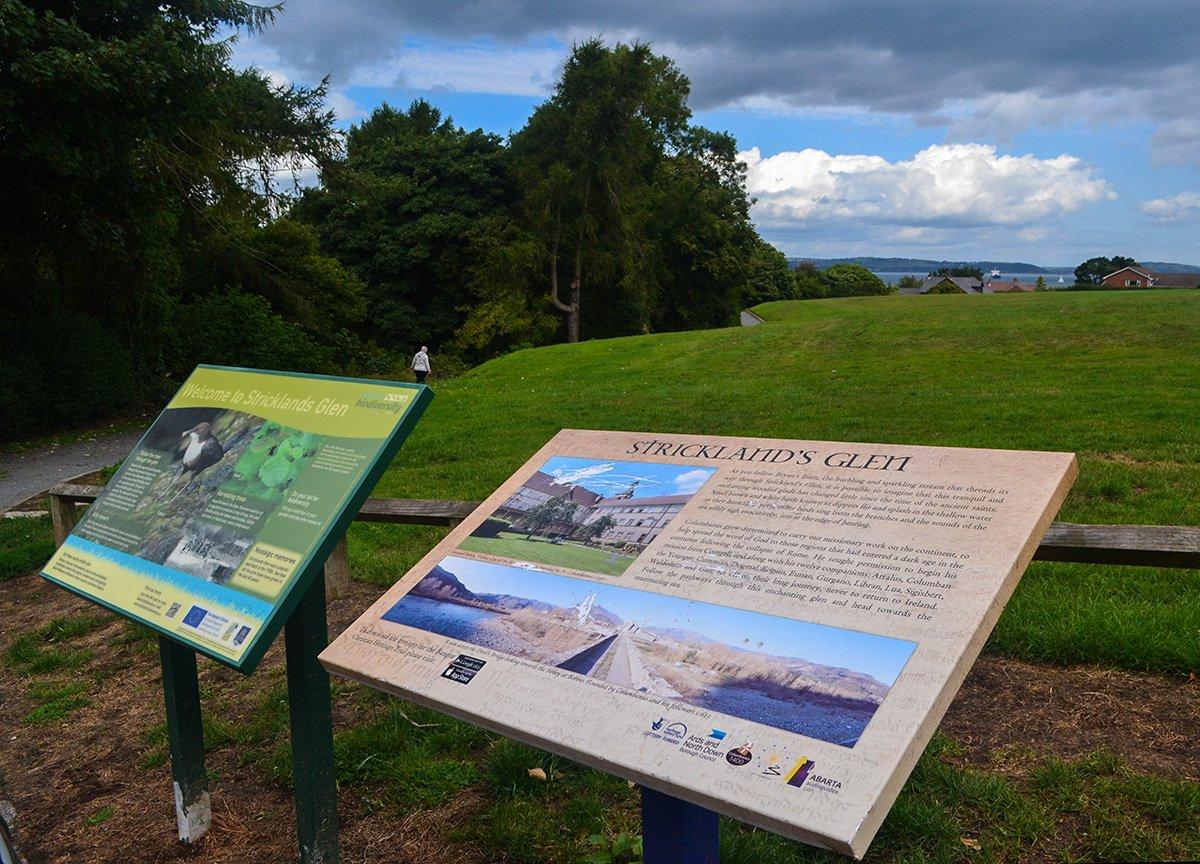 Car Park Signs, Stricklands Glen Bangor Coastal Path in North Down Northern Ireland