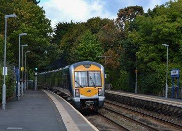 Carnalea Train Station, North Down Coastal Path. Bangor to Carnalea