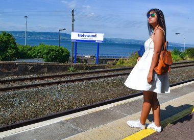 Holywood Train Station, North Down Coastal Path Bangor to Holywood