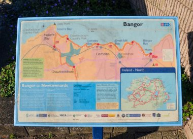 Coastal Path Map in Bangor, North Down Coastal Path Bangor to Holywood