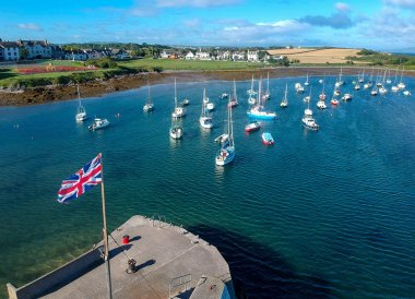 Union Flag Groomsport, Bangor to Groomsport, North Down Coastal Path. Northern Ireland