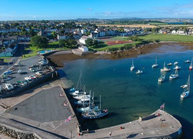 Groomsport Harbour, Bangor to Groomsport, North Down Coastal Path. Northern Ireland