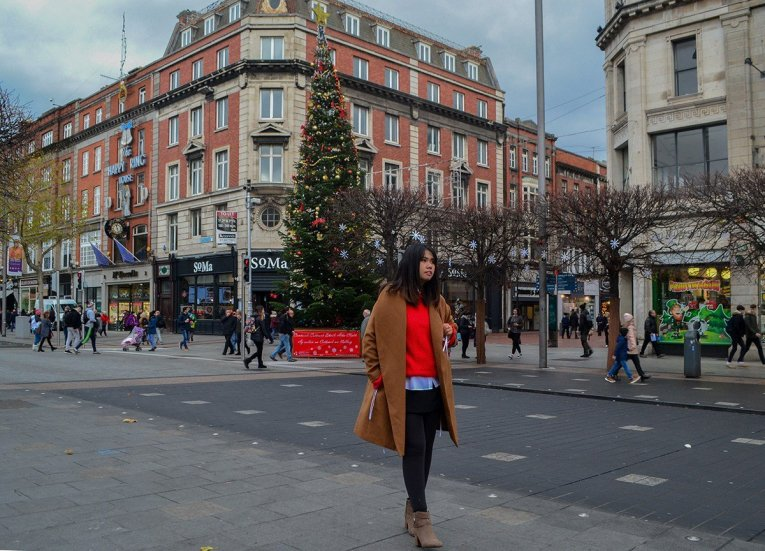 O'Connell Street, Christmas in Dublin City Centre Ireland
