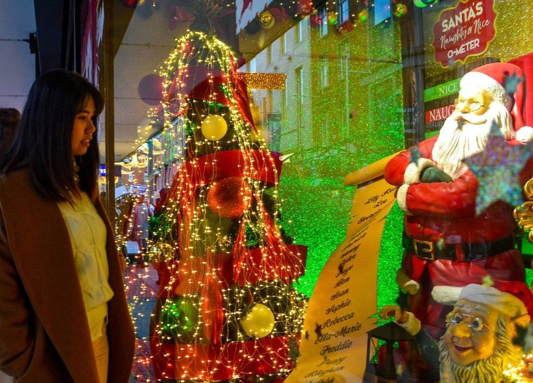 Arnotts window display, Christmas in Dublin City Centre Ireland