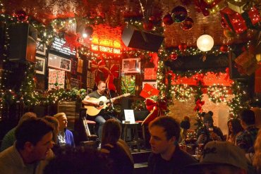 Temple Bar Pub at Christmas in Dublin City Centre Ireland