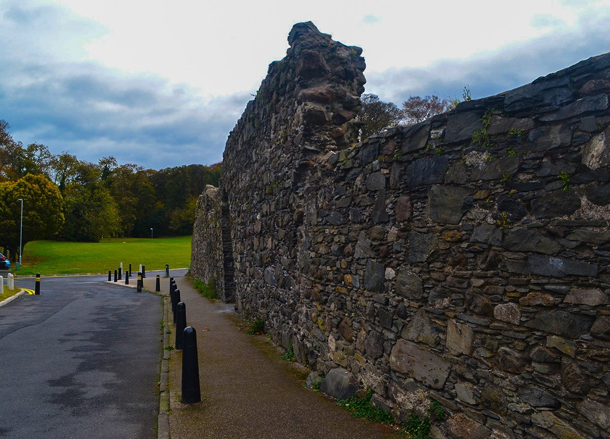 St Malachy's Wall in Castle Park on Abbey Street Bangor Northern Ireland