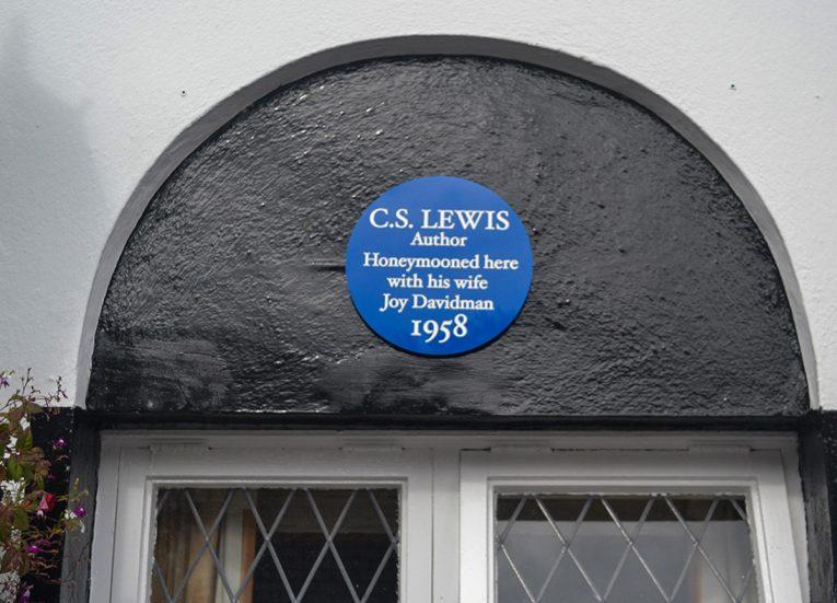 CS Lewis Plaque, Old Inn Crawfordsburn Hotel, Bangor