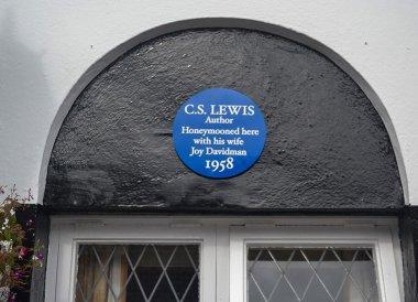 CS Lewis Plaque, Old Inn Crawfordsburn Hotel Northern Ireland