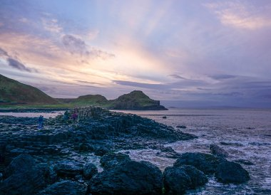 Sunset at Giants Causeway, Free Entry to the Giants Causeway N Ireland