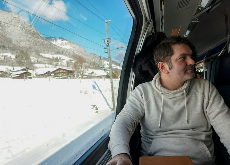 Travel Blogger Allan Wilson, Interrail in Winter Train Travel in Europe