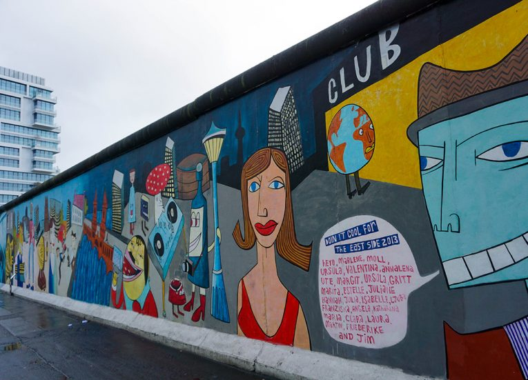Eastside Gallery in Berlin, Interrail in Winter: Train Travel in Europe Itinerary