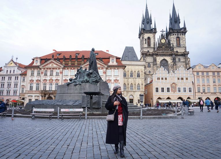 Fanfan Wilson, Old Town Prague Czech Republic, Interrail in Winter