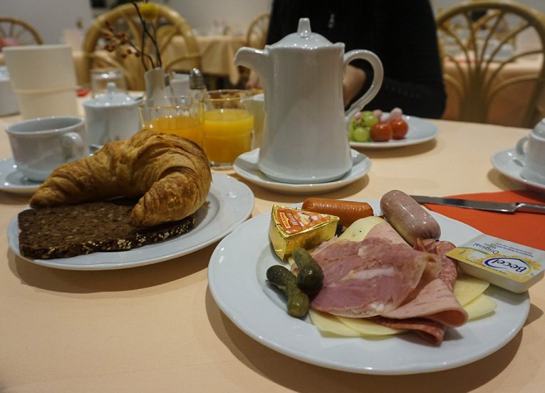 German Hotel Breakfast, Interrail in Winter: Train Travel in Europe Itinerary