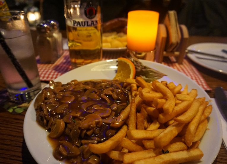 German Schnitzel with Mushroom, Interrail in Winter: Train Travel in Europe Itinerary