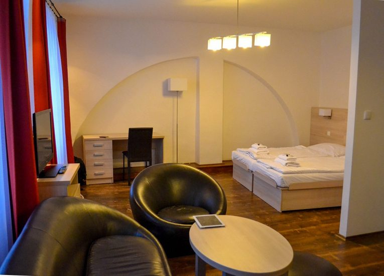 Cheap Hotels / Apartments in Cesky Krumlov in Winter Snow (Czech Republic)