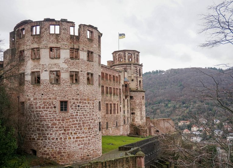 Schloss Castle in Heidelberg, Interrail in Winter: Train Travel in Europe Itinerary