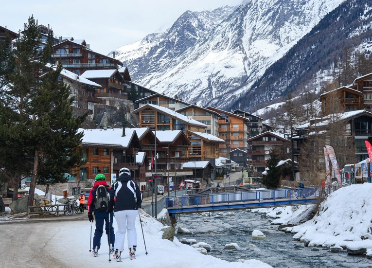 Skiers in Zermatt, Interrail in Winter: Train Travel in Europe Itinerary