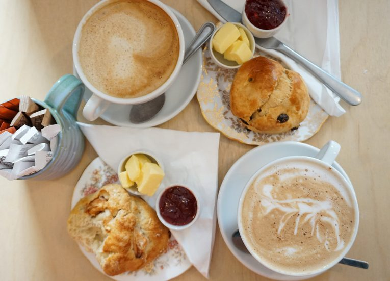 Coffee and Scones at Loaf Cafe and Bakery in Crawfordsburn Village Bangor NI