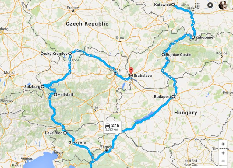Simple-Map-of-Winter-Road-Trip-in-East-Central-Europe