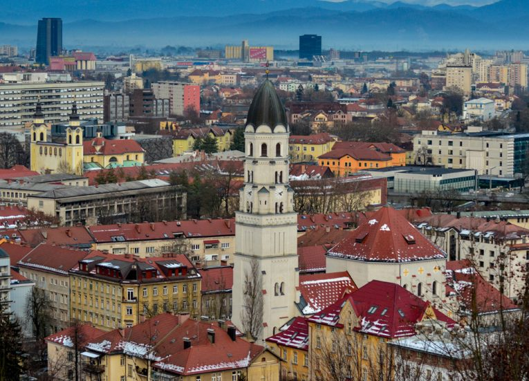 Views over ljubljana-slovenia-Winter-Road-Trip-in-East-Central-Europe