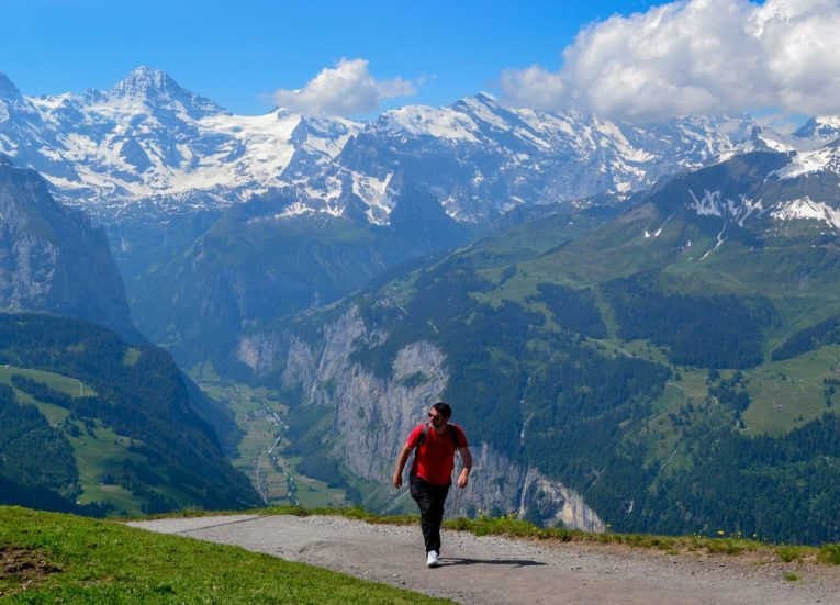 Easy Walks and Hikes to Männlichen Royal Walk on Jungfrau Railway