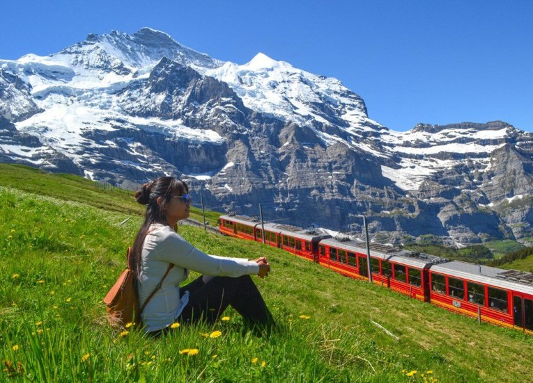 Fanfan Wilson Travel Blogger 3-Day Jungfrau Travel Pass on Jungfrau Railway