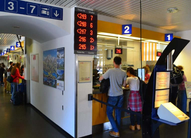 Fungfrau Ticket Office at Interlaken Ost Station 3-Day Jungfrau Travel Pass